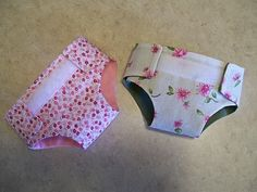 Baby doll cloth diapers.