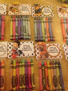 Paw Patrol Crayons Set Of 12 Party Favors by AddyBugs on Etsy