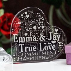 Couples Love Word-Art Heart