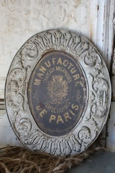 Vintage French hat maker's sign