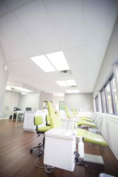 For this orthodontics office renovation, we completely transformed the space with a neutral tone, all-new flooring, fresh furniture, pops of color, and much more. The new space is almost unrecognizable!