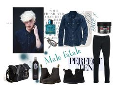 """""""Male fatale"""" by bella-whitlam ❤ liked on Polyvore featuring Folio, American Eagle Outfitters, Topman, Paul Smith, Dr. Martens, Bling Jewelry, Versace, TIGI, men's fashion and menswear"""