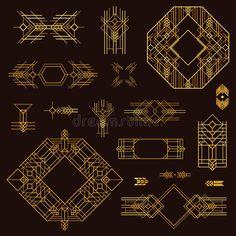 Art Deco Vintage Frames und Design-Elemente - Hand in Vektor gezeichnet photo Web Design, Graphic Design, Illustrator, Vintage Frames, Vintage Art, Art Deco Design, Art Deco Jewelry, Animal Design, Clipart