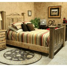 """Our """"San Antone"""" reclaimed wood bed.  Handcrafted in America."""