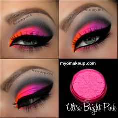 Neon Pink Makeup @ theamazingworldofj