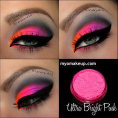 Maquillaje neón rosado