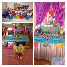 Little mermaid birthday party! #underthesea #ariel