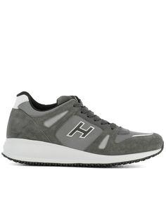 HOGAN Hogan Men'S  Grey Suede Sneakers'. #hogan #shoes #sneakers