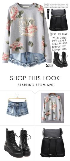 """""""SheIn 10"""" by scarlett-morwenna ❤ liked on Polyvore featuring MAKE UP FOR EVER, BOBBY, vintage, women's clothing, women's fashion, women, female, woman, misses and juniors"""