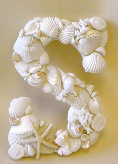 Beach Decor - Large Seashell Letter - All Letters Available - with or without…