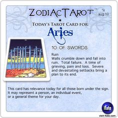 Todays Aries tarot card: Hey Aries, follow us for horoscopes every day!