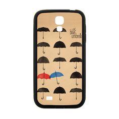CaseCoco:The Umbrella Red And Blue Umbrella Samsung Galaxy S4 Case ID:15939-111788