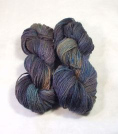 Two Skeins Wool Yarn Worsted Weight Hand by SunnyhillFiberDreams