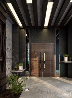 moderne Villa Eingang in Behance Door design interior
