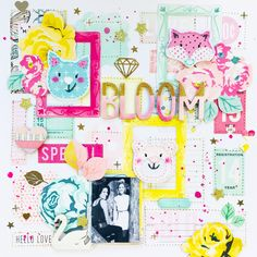 By Lisa Fonseca for In The Scrap August Challenge with Crate Paper by Maggie Holmes Scrapbook Sketches, My Scrapbook, Scrapbook Layouts, Scrapbooking, August Challenge, Project Life Scrapbook, Youtube I, Crate Paper, Crates