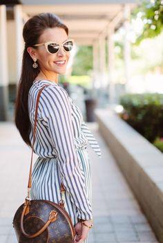 Jumpsuit l Stripes l Nasty Gal l Louis Vuitton l Tory Burch l Fashion Blogger l Nautical