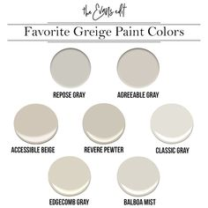 Why Greige Might Be Your New Best Friend – The Evans Edit My Favorite Griege paint colors: Sherwin Williams Repose Gray, Sherwin Williams, Agreeable Gray, Sherwin Williams Accessible Beige, Benjamin M