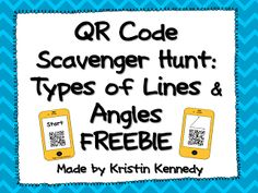 QR Code Math Scavenger Hunt FREEBIES for Primary and Upper Elementary