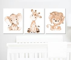 Baby Animal Nursery, Baby Boy Nursery Decor, Jungle Nursery, Jungle Safari, Baby Boy Nurseries, Nursery Sets, Lion Nursery, Nursery Canvas, Nursery Prints