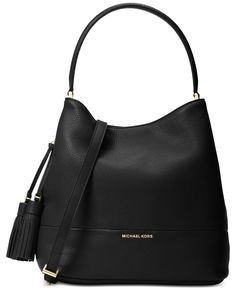 Michael Michael Kors Kip Large Bucket Bag - B Michael Kors Luggage, Handbags Michael Kors, Michael Kors Bag, Leather Purses, Leather Handbags, Leather Clutch, Designer Handbag Brands, Large Bucket, Black Bucket