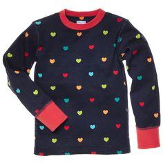 RAINBOW HEART TOP (CHILD) Polarn O Pyret $24