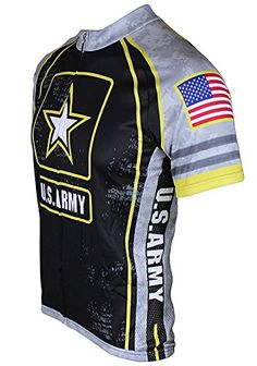US Army Gray Camo Mens Cycling Jersey 6XL by 83 Sportswear -- Click on the 742b96556