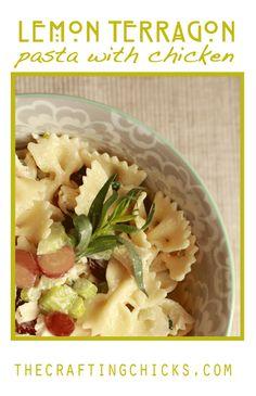 Tasty Lemon Tarragon Pasta with Chicken from thecraftingchicks.com #craftingchicks #pastarecipes