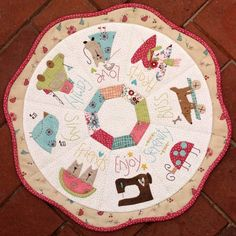 hearts desire table topper by Natalie Bird