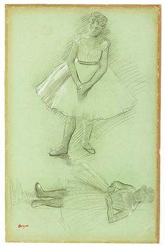 The Morgan Library & Museum Online Exhibitions - Degas: Drawings and Sketchbook - Edgar Degas - Two Studies of Dancers