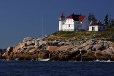 Heron Neck Light is a lighthouse on Green's Island in Vinalhaven, Maine at the south end of Penobscot Bay. It was established in 1854. Heron Neck Light was listed on the National Register of Historic Places as Heron Neck Light Station on January 21, 1988, reference number 87002266.[3]