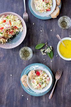 Greek Style Quinoa Salad with Feta Vinaigrette - Vegetarian - CaliZona