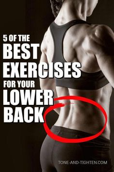 5 of the best at home exercises to strengthen and tone your lower back. The 5 best exercises you can do at home to strengthen your lower back and glutes. No equipment required - strengthen and tone with these bodyweight exercises. Best Lower Back Exercises, Hip Strengthening Exercises, Back Strengthening Exercises, Lower Back Muscles, Abdominal Exercises, Womens Back Exercises, Workouts For Lower Back, Back Exercises Gym, Lower Back Exercises Strengthen