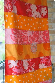 Orange and pink patchwork.