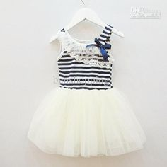 Wholesale Baby Clothing - Buy Summer New Girls Dresses Girl Tutu Baby Clothing Striped Kids Cotton Lace 13APR106-1, $6.33 | DHgate