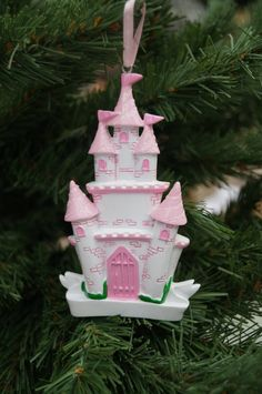 Personalised Christmas decoration Childs princess castle