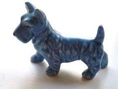 Sylvac Blue Scottie Dog