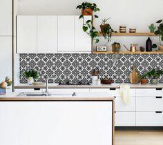 Stickers tuiles de cuisine/salle de bain arrière par QUADROSTYLE