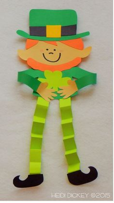 Leprechaun craft for St. Patrick's Day  - repinned by @PediaStaff – Please Visit  ht.ly/63sNt for all our pediatric therapy pins