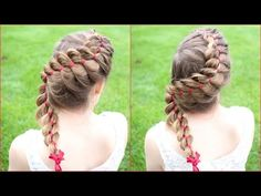How to : 4 Strand Braid with a Ribbon | Braidsandstyles12 - YouTube
