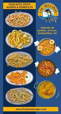 pescaito frito de Los Mellizos a domicilio en #Malaga #food #restaurantes www.foodmesenger.com
