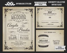 NEW SERENDIPTY COLLECTION Vintage Wedding by DIYFabulous on Etsy