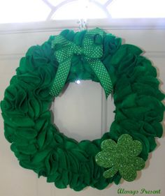 Emerald Green St Patrick's Day Wreath by alwayspresent on Etsy, $35.00