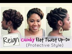 """Here is a semi chunky flat twist updo and protective hairstyle for the new season coming up! This is letter """"R"""" from the ABC Protective Style Series. Natural Hair Twist Out, Natural Hair Updo, Be Natural, Natural Hair Care, Natural Hair Styles, Flat Twist Hairstyles, Flat Twist Updo, Wedding Hairstyles For Long Hair, Braids For Long Hair"""