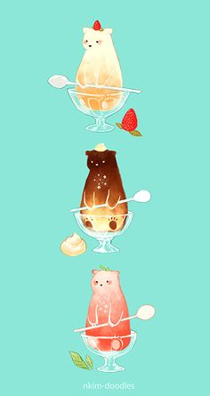 Ideas Funny Art Illustration Inspiration For 2019 Cute Animal Drawings, Kawaii Drawings, Cute Drawings, Anime Kawaii, Kawaii Art, Art And Illustration, Illustrations, Cute Doodles, Cute Wallpapers