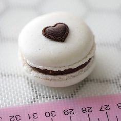 White macarons filled with a gooey milk chocolate fudge frosting and topped with a chocolate hearth. Super elegant and romantic for any… Vanilla Macarons, Chocolate Fudge Frosting, Taste Made, Homemade Marshmallows, Chocolate Hearts, Buzzfeed Food, Gluten Free Baking, Cookie Recipes, Valentines Baking