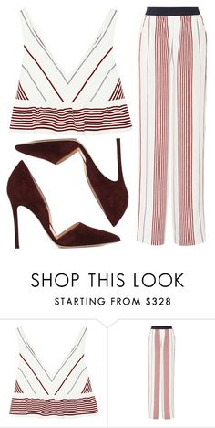 """""""Stripes"""" by fridaeklof ❤ liked on Polyvore featuring Elizabeth and James and Gianvito Rossi"""