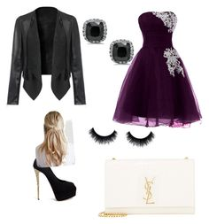 """Homecoming"" by noragd001 on Polyvore featuring Giuseppe Zanotti and Yves Saint Laurent"