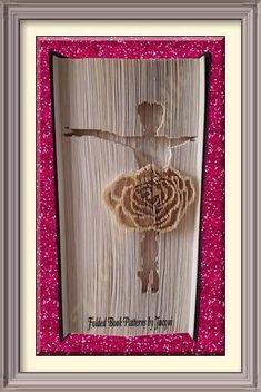 Ballet Book Folding Pattern - Rose Ballet Dancer by JHBookFoldPatterns on Etsy Ballet Books, Book Folding Patterns, Plastic Art, Paper Folding, Paper Art, Book Art, Sculptures, Projects To Try, Rose
