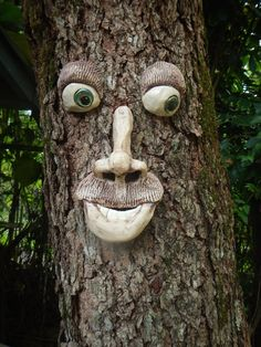 A Handmade Garden Ornament. Great Gifts For All Gardeners. Yard Art, Tree  Art | Tree Faces, Garden Ornaments Au2026