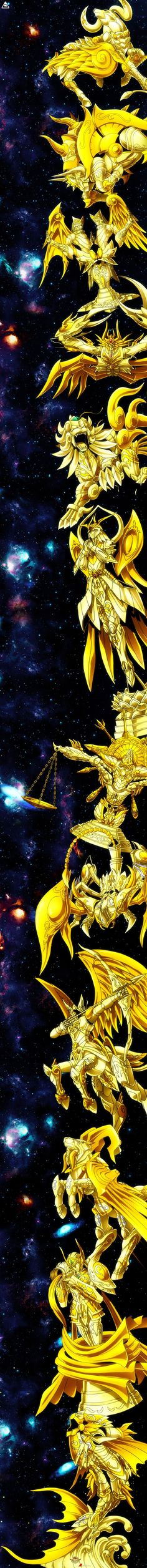 Saint Seiya Soul of Gold's Zodiac of Gold God Cloths Más Manga Anime, Anime Art, Knights Of The Zodiac, 3d Fantasy, Manga Comics, Fan Art, Digimon, Anime Love, Anime Characters